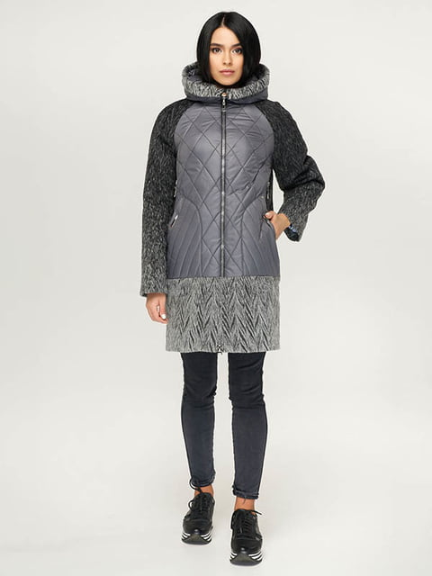 Пальто серо-черное Favoritti 4643443