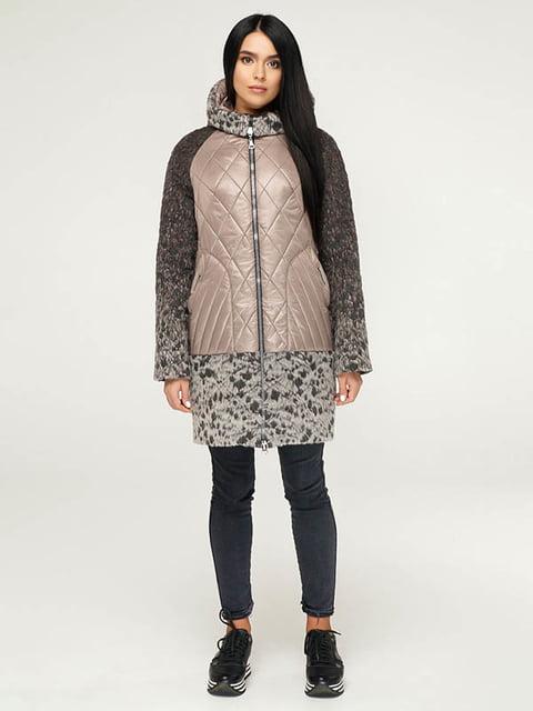 Пальто серо-коричневое Favoritti 4643459