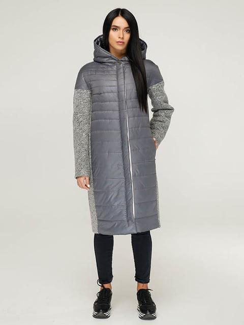 Пальто сіре Favoritti 4643499
