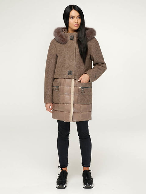 Пальто коричневое Favoritti 4643504