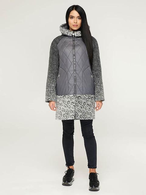 Пальто серое с принтом Favoritti 4643508