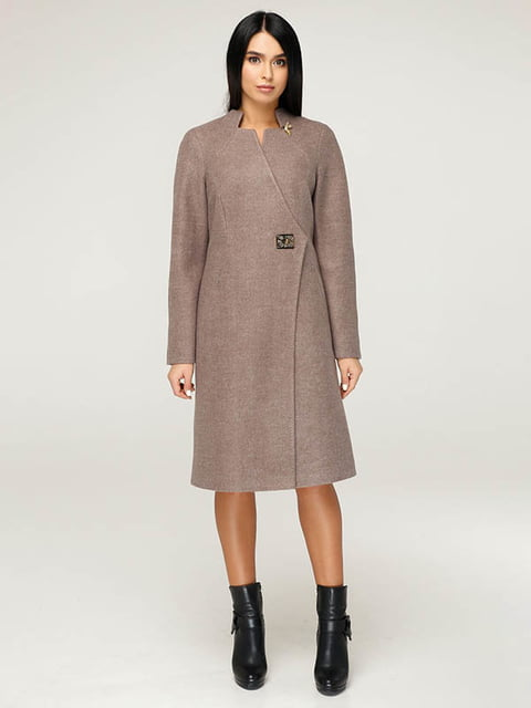 Пальто бежево-коричневое Favoritti 4643513