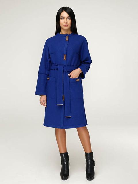 Пальто кольору електрик Favoritti 4643515