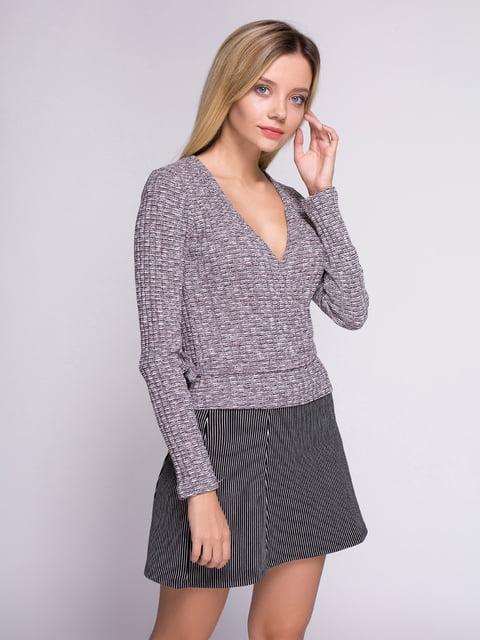 Пуловер сірий Bershka 3222142