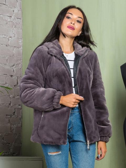 Полушубок графитового цвета Grand Furs 4649354