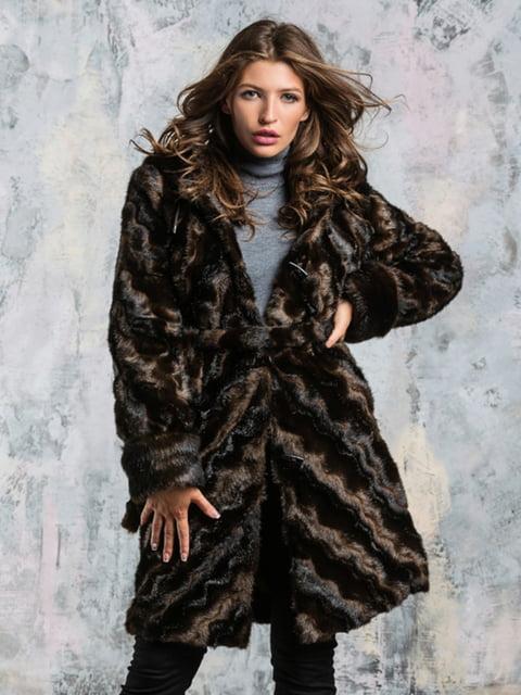 Шуба шоколадного кольору Grand Furs 4649362