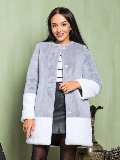 Полушубок серо-белый Grand Furs 4649367