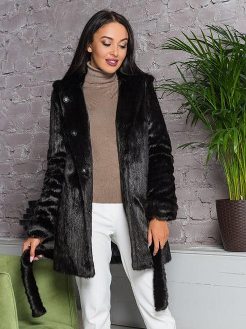 Полушубок шоколадного цвета Grand Furs 4649387