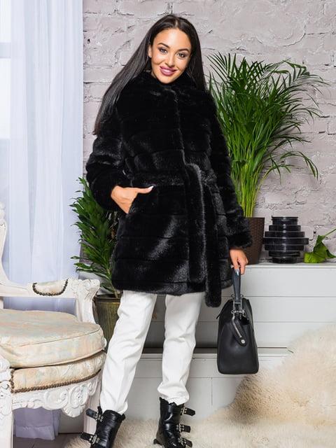 Кожушок чорний Grand Furs 4649391