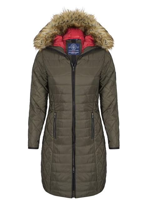 Пальто цвета хаки Giorgio di Mare 4593016