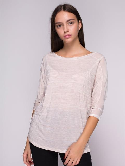 Блуза світло-бежева Bershka 2733109