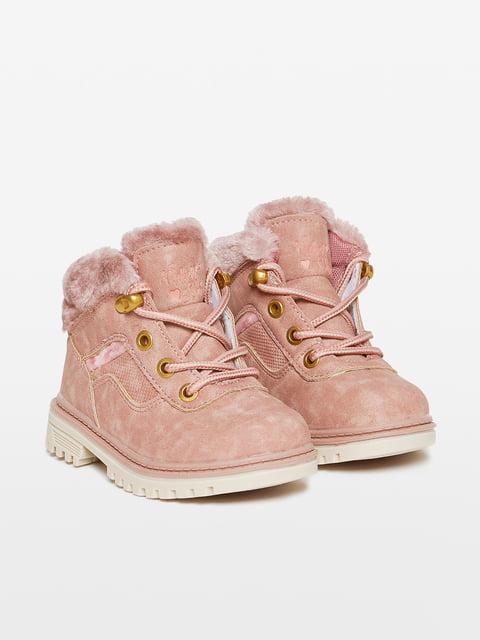 Ботинки розовые Oviesse 4649346