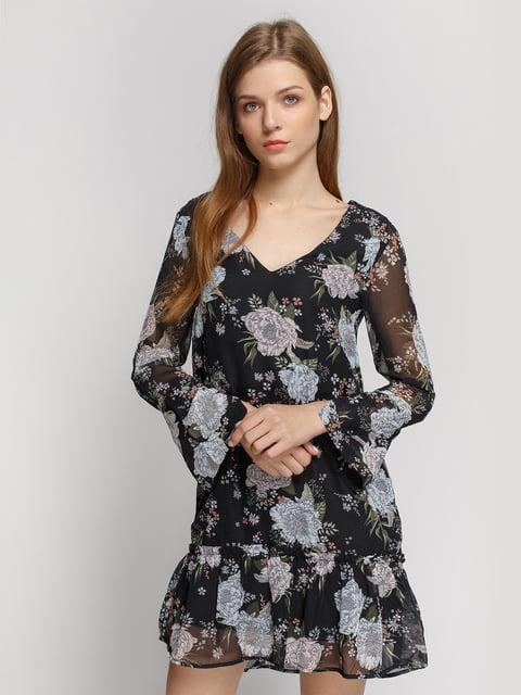 Сукня чорна в квітковий принт H&M 4600463