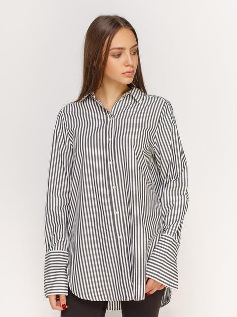 Сорочка біла в смужку H&M 4613503