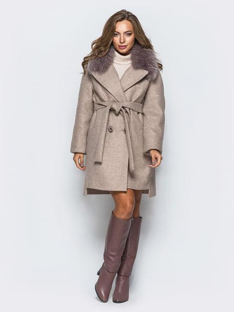 Пальто кольору мокко Leo Pride 4654455