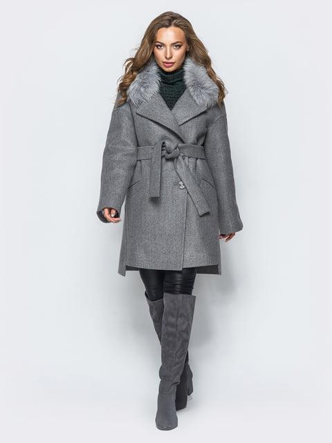 Пальто темно-сіре Leo Pride 4654457