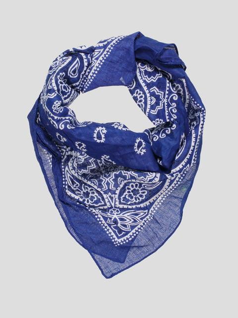 Платок синий в принт Cache Cache 4618769