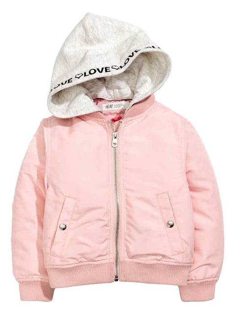 Бомбер рожевий H&M 4657007