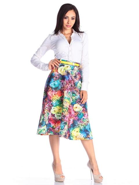 Спідниця в квітковий принт Laura Bettini 4636829