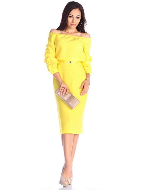 Платье солнечного цвета Dioni 4637062