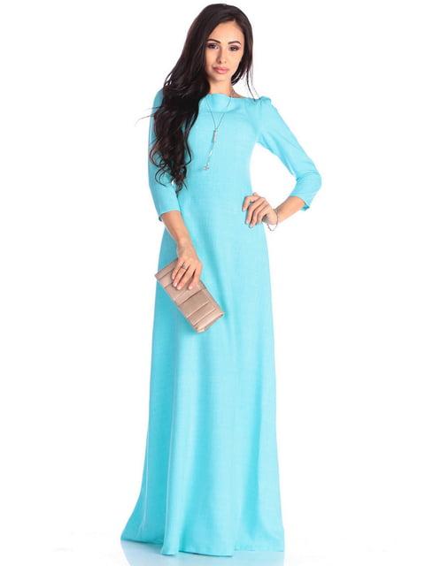 Платье светло-бирюзового цвета Maurini 4637083