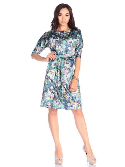 Платье в цветочный принт Laura Bettini 4648620