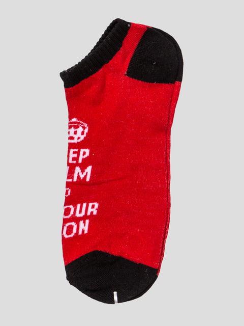 Шкарпетки чорно-червоні Alcott 4627039