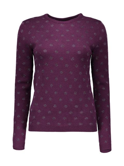 Джемпер фиолетовый в горох Piazza Italia 4652635