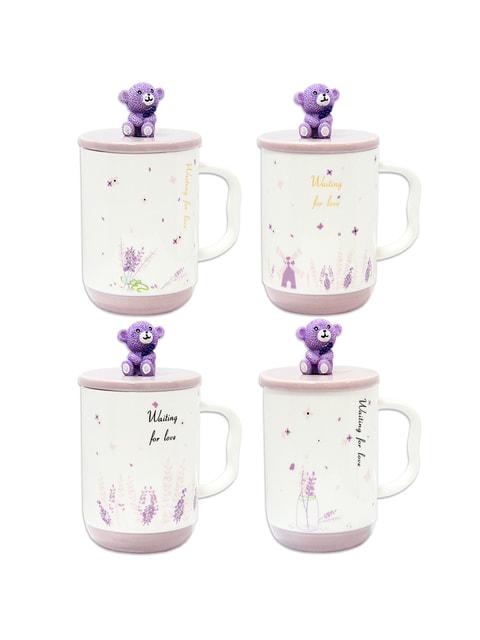 Чашка з кришкою і ложкою (400 мл) Trendy 4674540