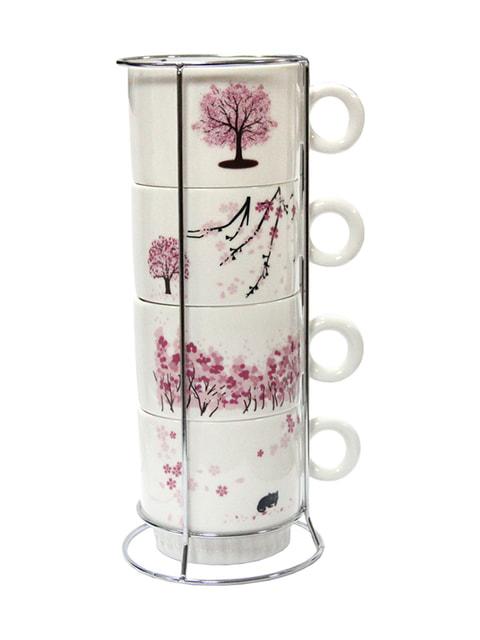 Набір кавовий на підставці (4 предмета) Trendy 4674598