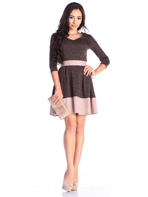 Сукня шоколадно-пудрового кольору Laura Bettini 4672193