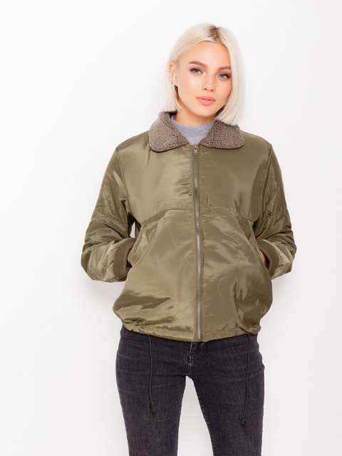 Куртка кольору хакі Magnet 4678555