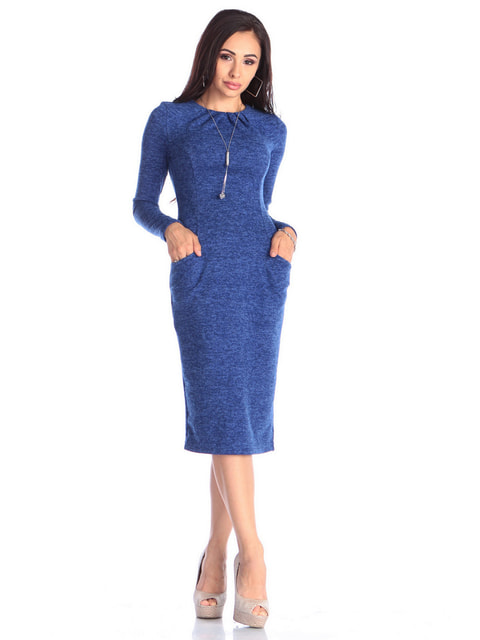 Платье цвета электрик Laura Bettini 4636880