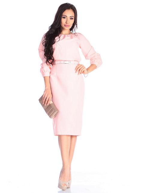Платье нежно-персикового цвета Dioni 4677398
