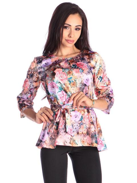 Блуза в квітковий принт Laura Bettini 4683273