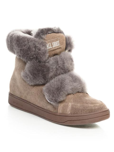 Ботинки кофейного цвета Allshoes 4648989