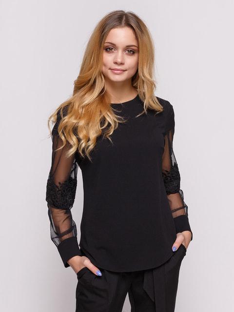 Блуза чорна Zubrytskaya 4673299