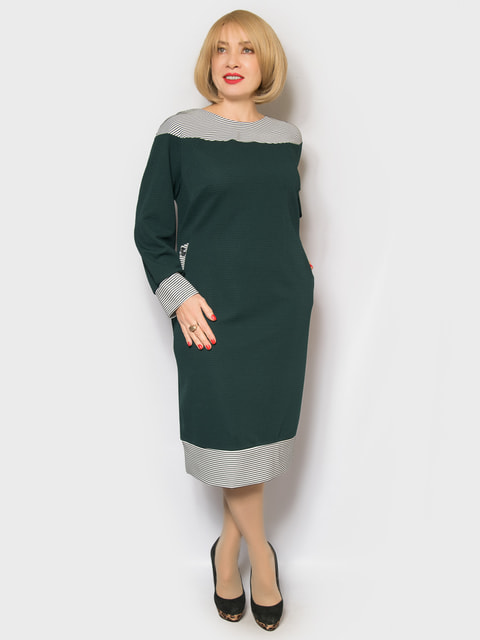 Платье темно-зеленое LibeAmore 4688763