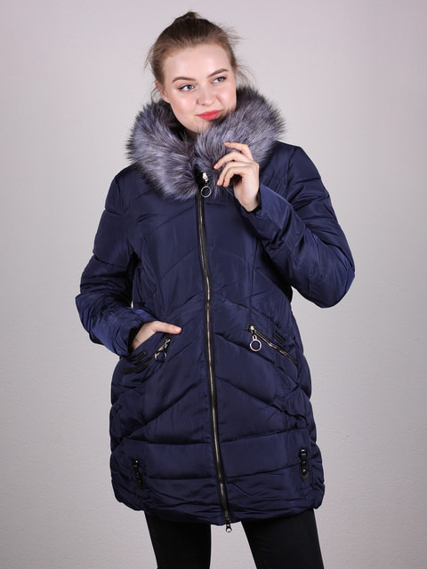 Пальто темно-синее Artua Collection 4690642