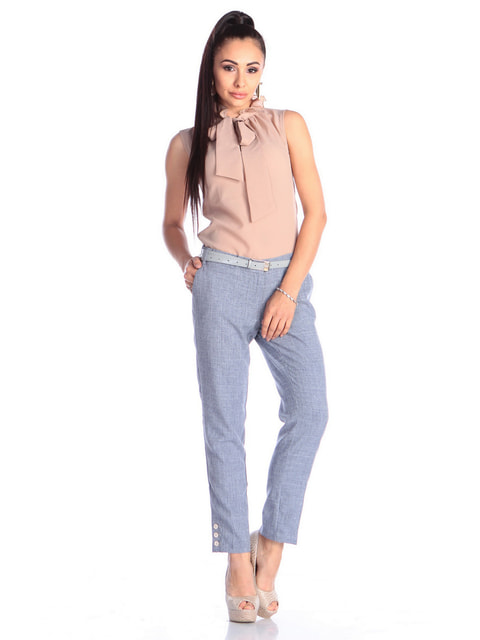 Штани кольору фіолетового серпанку Dioni 4690439