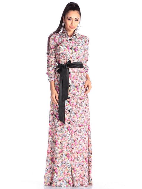 Платье в цветочный принт Maurini 4690455