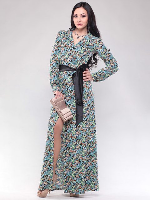 Платье в принт Maurini 4690456