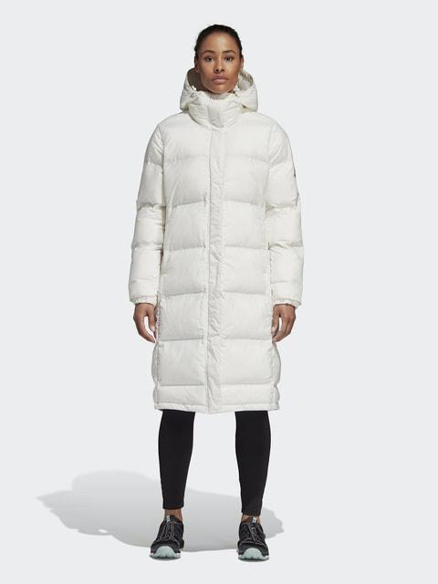 Пуховик білий Adidas 4679843