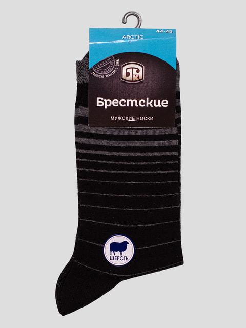 Носки черные в полоску БЧК 4663506