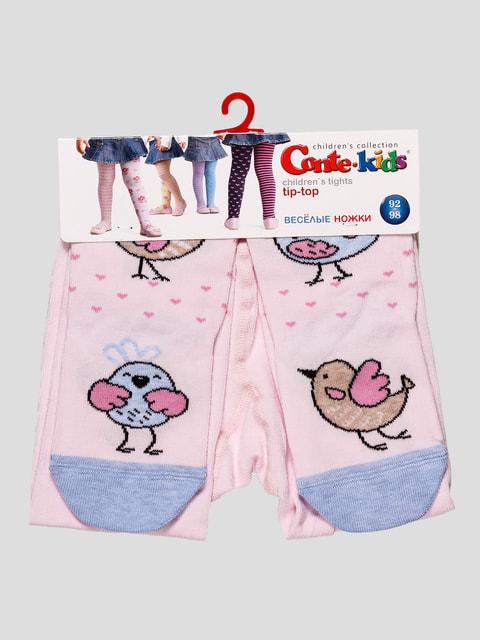 Колготки розовые с принтом Conte Kids 4663571