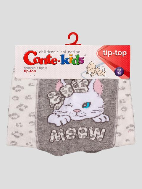 Колготки молочного цвета с принтом Conte Kids 4663553
