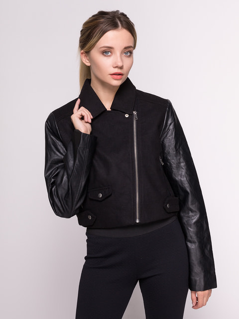 Куртка черная Stradivarius 4641630