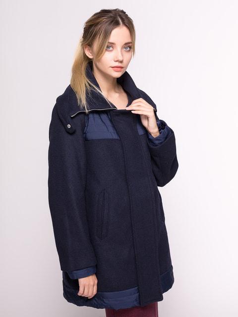 Пальто темно-синє Stradivarius 4646693