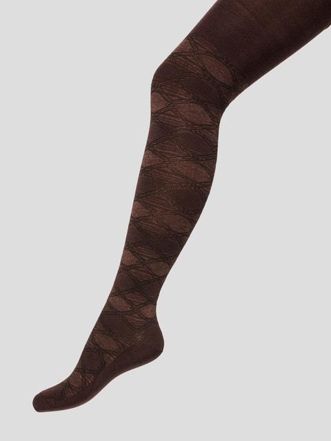 Колготки коричневі з малюнком БЧК 4663621