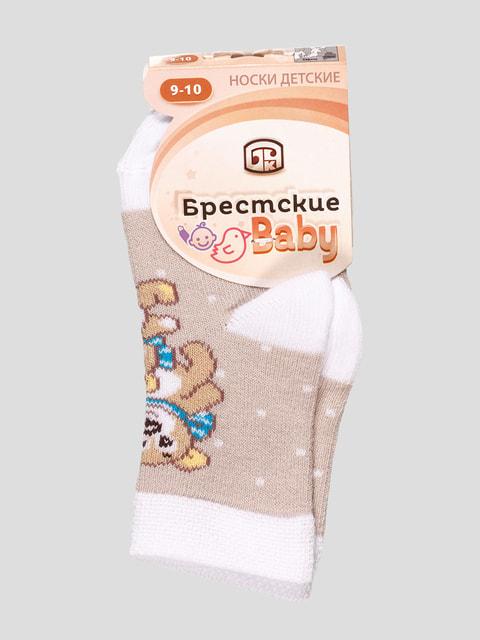 Носки двухцветные с рисунком БЧК 4663707